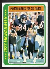 1978 Topps WALTER PAYTON #3 HOF Chicago Bears - Great Condition