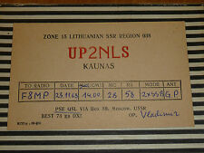 QSL CARD CARTE RADIO lithuanian ssr kaunas