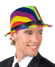 LADIES MENS GAY PRIDE MULTICOLOURED RAINBOW TRILBY HAT NEW