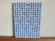 DESIGNER FABRIC Handmade MEMO BOARDS Laura Ashley Blue Gingham Notice Board