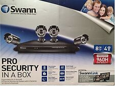 Swann SW-HOMEKIT84 Pro 8 Channel Home & Business Security System w/ 4 Cameras