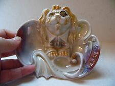 Vintage Lion Wearing A  Monical Eye Glass Porcelain Trinket Tray Dish