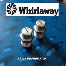 2 (TWO) STAINLESS PRESSURE WASHER FAN JETS WHIRLAWAY ROTARY FLOOR whirl a way