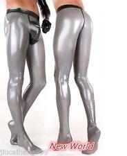 Men's 100% Latex Rubber Gummi 0.48mm Leggings Pants Trousers Suit Catsuit Sliver