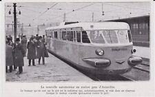 1935  --  TRAIN  LA NOUVELLE AUTOMOTRICE EN STATION GARE D AUSTERLITZ   3G970