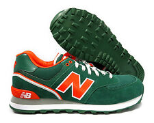 [ML574SJH] NEW BALANCE CLASSICS GREEN ORANGE WHITE MEN SNEAKER SIZE 7.5