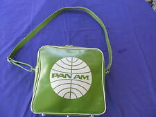 Vintage Pan Am Certified  Carry On Bag RARE Green Pan Am Orig Airlines  Luggage