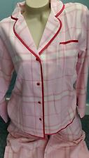 Waite's Ladies Gorgeous Pink Soft Warm Brushed Pyjamas Set Size L/16-18 B.N.W.T