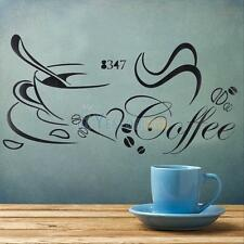 Home Decor Removable Kitchen Coffee Cup PVC Room Decal Art Vinyl  Wall Sticker