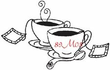 CREATIVE IMAGES RUBBER STAMPS CISTAMPS TEA CUPS STAMP