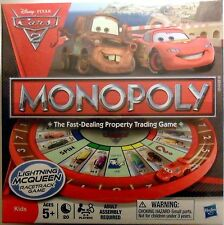 New Sealed Monopoly Disney Pixar Cars Edition Board Game Lightning McQueen