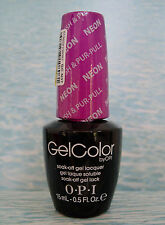 OPI GelColor GC N37 PUSH & PUR-PULL ~ NEONS Soak-Off Gel Color Polish 0.5 oz NEW
