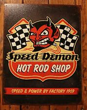 Speed Demon Racing Hot Rod Tin Sign picture Media Room  picture wall decor