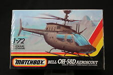 YN129 MATCHBOX 1/72 maquette helicoptere 40043 Bell OH-58D Aeroscout