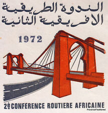 CONFERENCE ROUTIERE AFRICAINE MAROC MOROCCO ENVELOPPE  PREMIER JOUR  FDC MA728