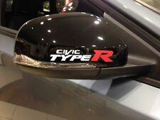 FOR CIVIC TYPE R MIRROR WHITE VINYL DECALS STICKER,ACCORD,JAZZ,GT, MUGEN,CAR