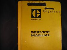 Caterpillar Cat 631-633 Tractor Scraper Service Manual
