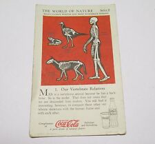 Coca-Cola Coke The World of Nature Trade Cards USA 1930 - Skelett Serie II # 1