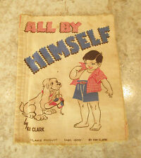 VTG 1950 PLAKIE CHILD'S LEARNING CLOTH FABRIC BOOK 'ALL BY MYSELF' BY KAY CLARK