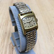 Vintage Rodania Lady 17 Jewels Gold Plated RGP Band Hand-Winding Watch Hours~Run
