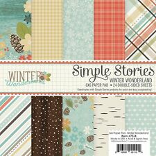 Simple Stories Winter Wonderland Collection 6 x 6 Paper Pad  7514   2016