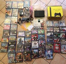 MEGA LOTTO LOT SONY PS PLAYSTATION2  CONSOLE SILM+ 50 SEALED GAMES GIOCHI