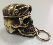 Keyring Skull in Beret Special Forces of Russia!. Handmade. Brass.