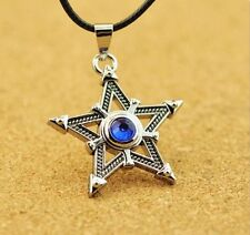 Metal Anime for Black Rock Shooter Cosplay Necklace Pentagram Pendant