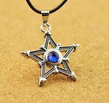 Metal Anime for Black Rock Shooter Cosplay Necklace Pentagram Pendant