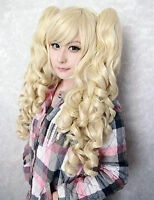 Blonde Curly Pigtails Pony Tails Adult Wig