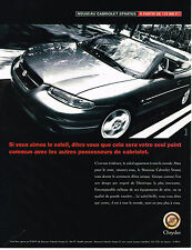 PUBLICITE ADVERTISING 025  1997  CHRYSLER  CABRIOLET STRATUS