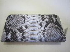 Genuine Real Python Snake Skin Leather Woman's Zippered Purses Wallet no.F310