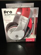 """MENTAL BEATS EXPERT PRO HEADPHONE WITH MIC, RED, MODEL 61860 *NEW BOX PACK"""""""