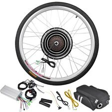 "36V 500W 26"" Rear Wheel Electric Bicycle Motor Kit E-Bike Cycling Hub Conve"