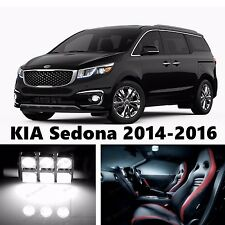 14pcs LED Xenon White Light Interior Package Kit for KIA Sedona 2014-2016