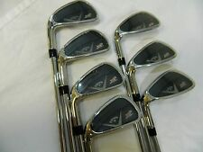 NEW LH CALLAWAY X2 HOT PRO IRON SET 4-PW PROJECT X 6.0 FLIGHTED 95 STEEL IRONS