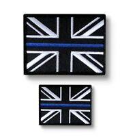 Thin Blue Line Police Union Jack  Badge / Patch  Large & Small TRF
