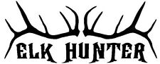 Elk Hunter Decal  - Window sticker Car RV Truck ATV Hunting Outdoor Vinyl Decal