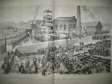 SAINT-ETIENNE MINE SAINT-LOUIS HOUILLERES EXPO UNIVERSELLE L'ILLUSTRATION 1889