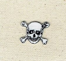 Mini Skull/Crossbones Jolly Roger - Iron on Applique/Embroidered Patch