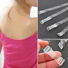 5 Pair Adjustable Invisible Transparent Clear Bra Strap