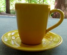 Willams-Sonoma Dijon Yellow Belvedere Mug and Saucer Set Made in Portugal