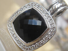 $975 DAVID YURMAN SS ALBION BLACK ONYX DIAMOND ENHANCER