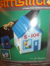 NOS Vtg 1970s TURN ABOUT TOWN Store House Mailbox PLASTIC CANVAS Needlepoint KIT