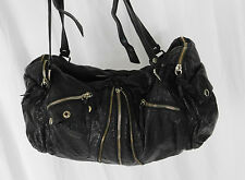 Converse Black Faux Leather Shoulder Bag, Handbag