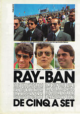 PUBLICITE ADVERTISING 035  1984  RAY-BAN   lunettes solaires              230315