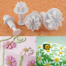 4er Gänseblümchen Blumen Ausstecher Marzipan Fondant Ausstechformen Sets Keks