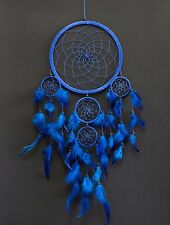 """Dream Catcher Large Blue Wall Hanging Home Decoration Ornament Feathers 25 """""""