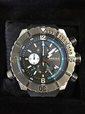 New BRERA BRDVC4701 SOTTOMARINO DIVER Black and Silver Tone 48mm Watch