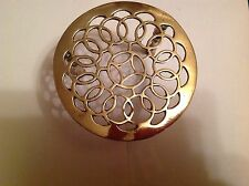ANTIQUE VICTORIAN SOLID BRASS ROUND TRIVET KETTLE PAN KITCHEN COLLECTABLE